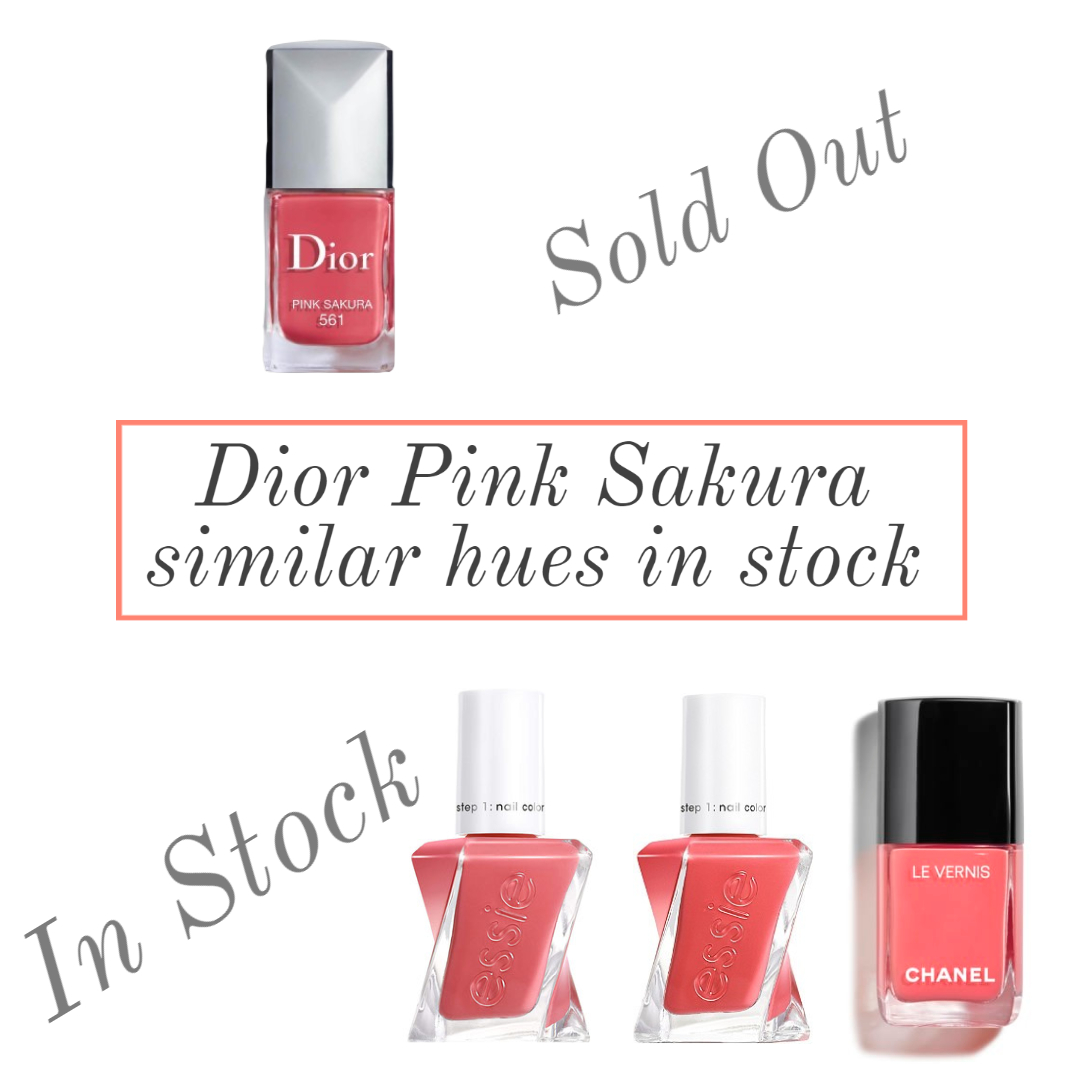 dior pink sakura nail polish similar colors dupes affordable versions