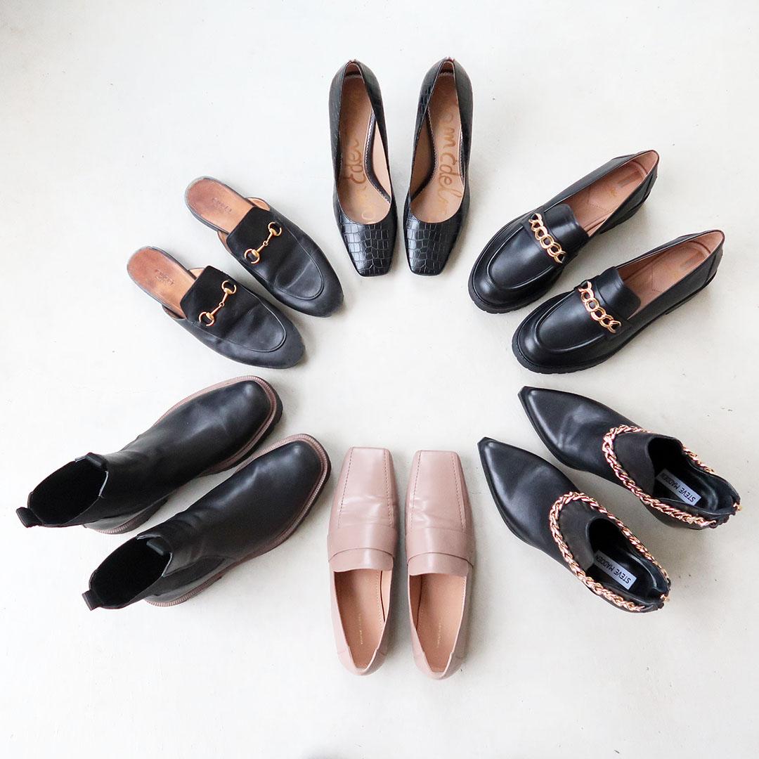 fall shoe capsule wardrobe 2021